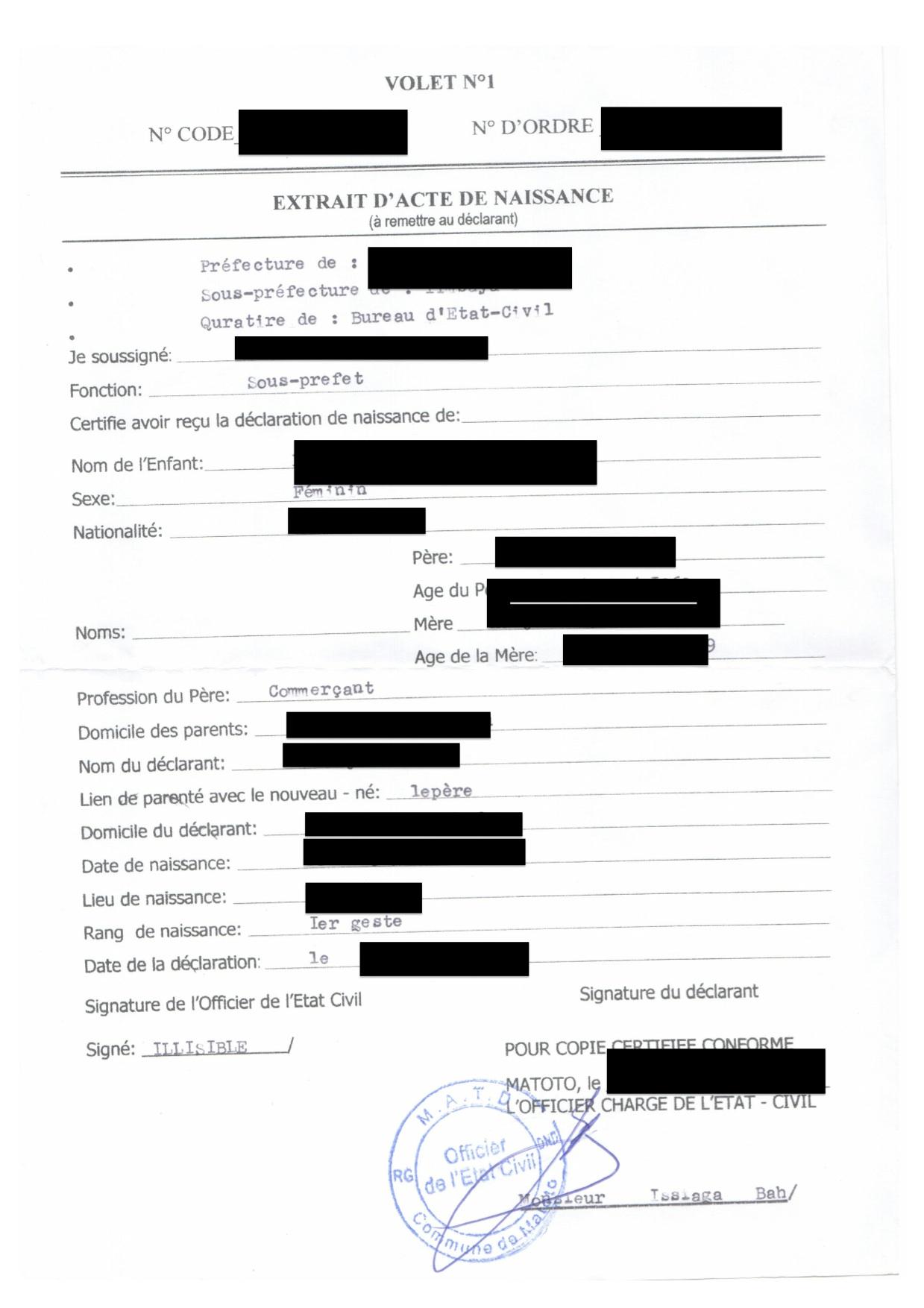 Guinea Birth Certificate Translation London Translation And